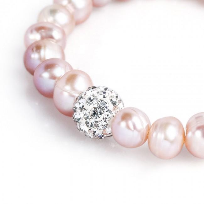 Vòng tay ngọc trai Pink Pearl 3