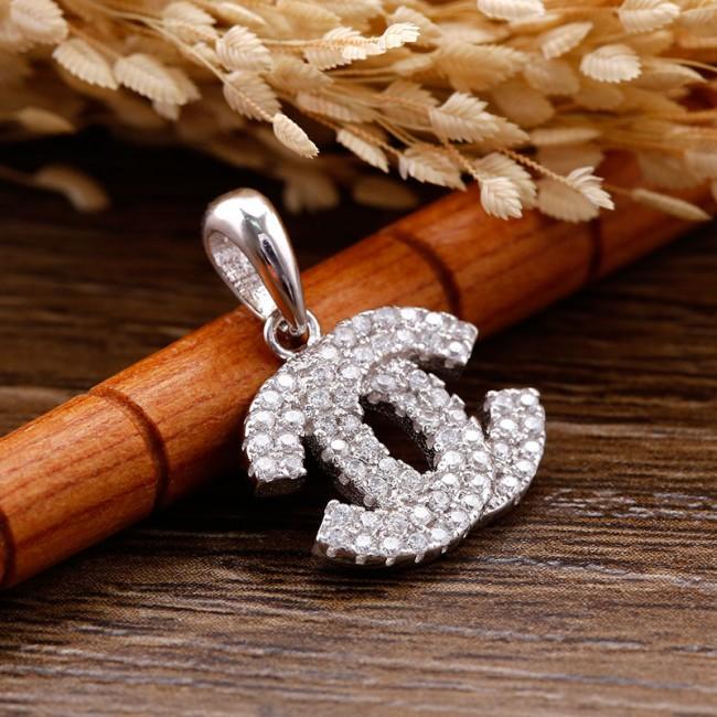 Mặt dây chuyền bạc Aly Chanel 3