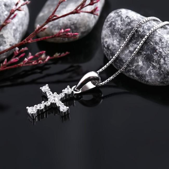 Mặt dây chuyền bạc Strong Cross 3