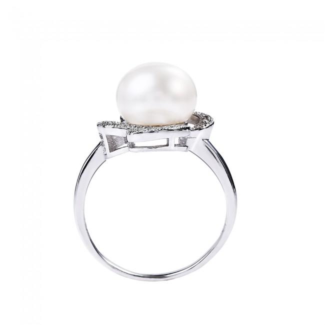 Nhẫn bạc Bastet Pearl 3
