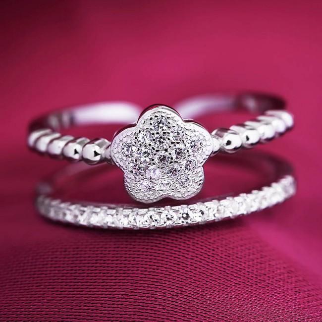 Nhẫn bạc Celina Flower 3