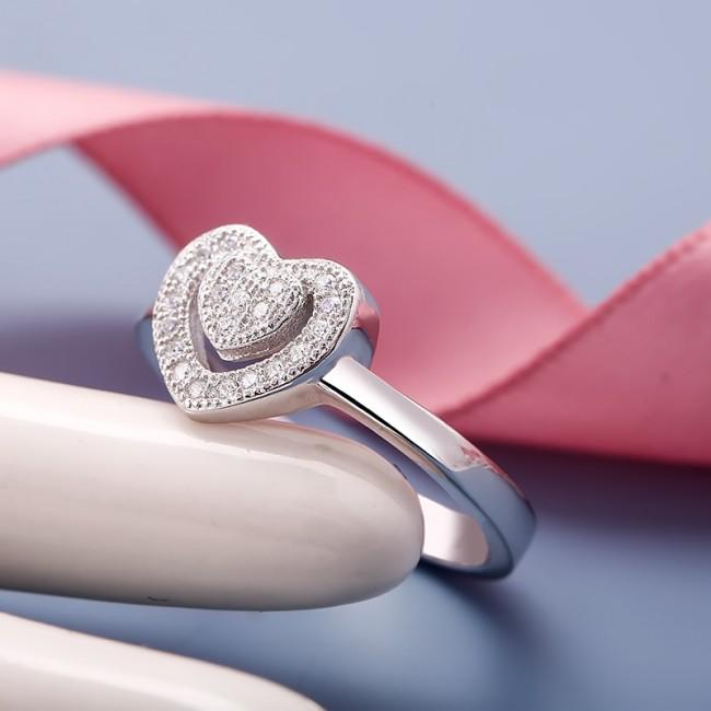Nhẫn bạc Charles Heart 3