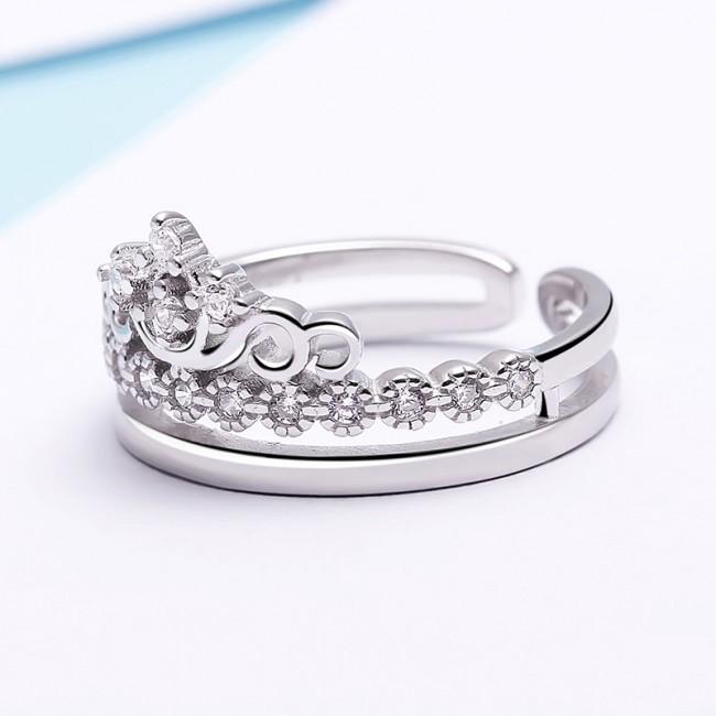 Nhẫn bạc Crown Of Queen 3