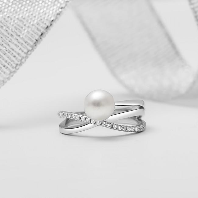 Nhẫn bạc Esther Pearl 3
