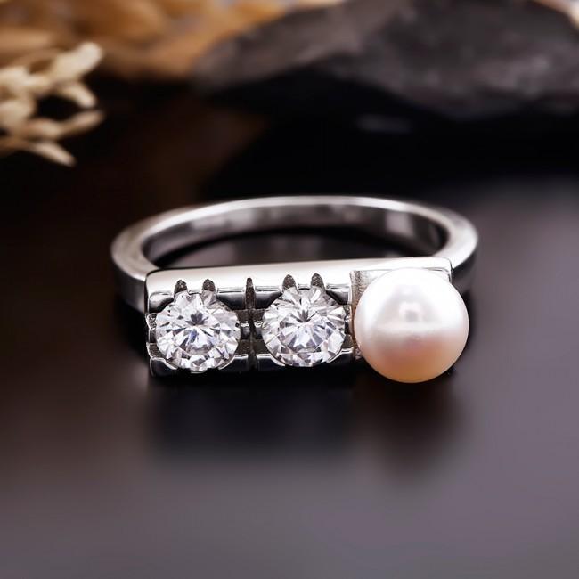Nhẫn bạc Everlasting Pearl 3