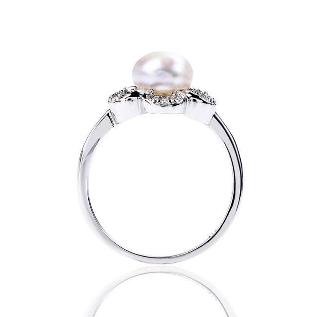 Nhẫn bạc Flower Pearl 3
