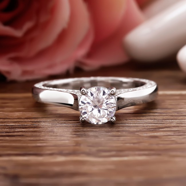 Nhẫn bạc Hana Classic 3