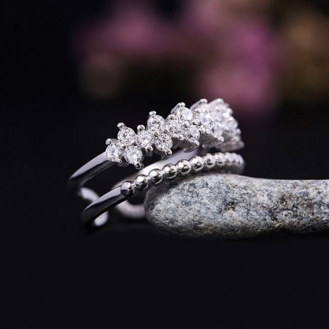 Nhẫn bạc Lani Flower 3