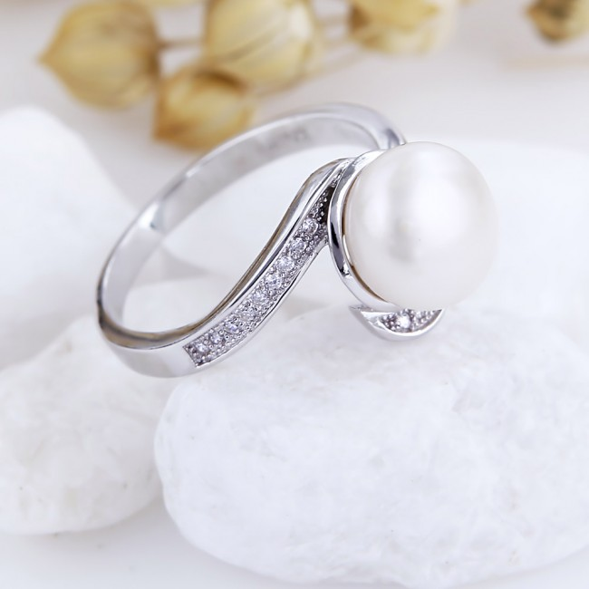 Nhẫn bạc ngọc trai Kate 2