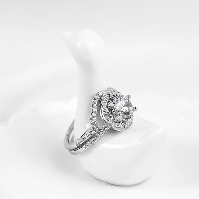 Nhẫn bạc Saphiara Like3
