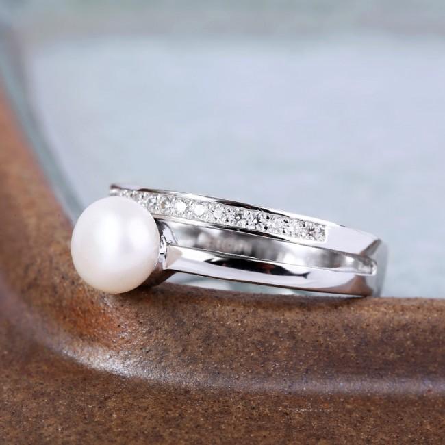 Nhẫn bạc Shining Pearl 3