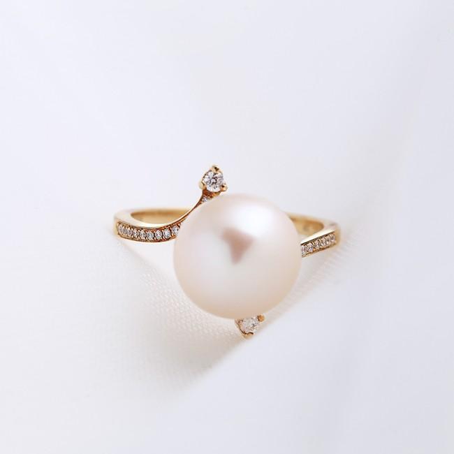 Nhẫn vàng 18k ngọc trai Candy Love 3