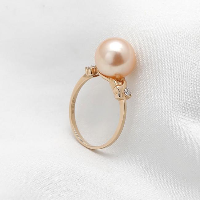 Nhẫn vàng 18k ngọc trai Orange Charming 3