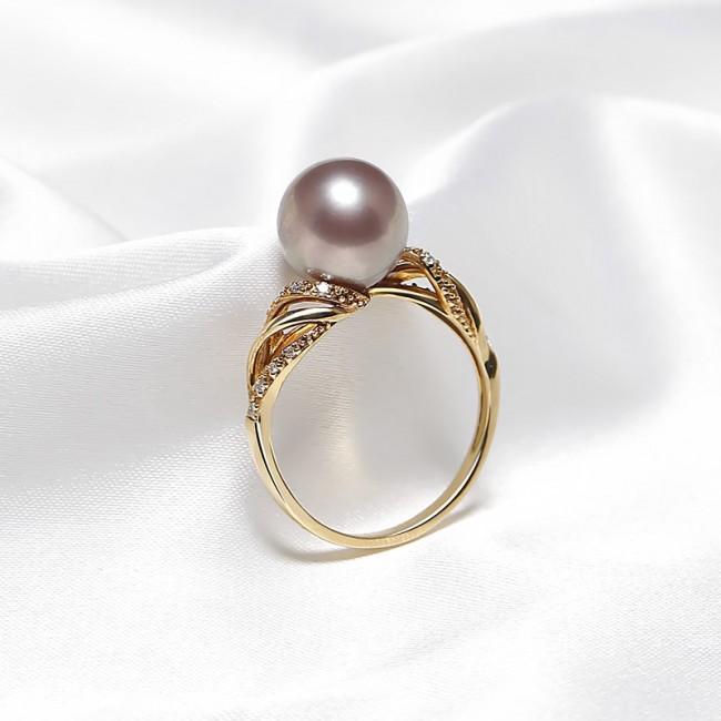 Nhẫn vàng 18k ngọc trai Royale Pearl 3