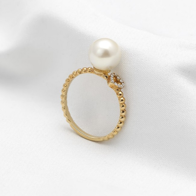 Nhẫn vàng 18k Princesse Pearl 3