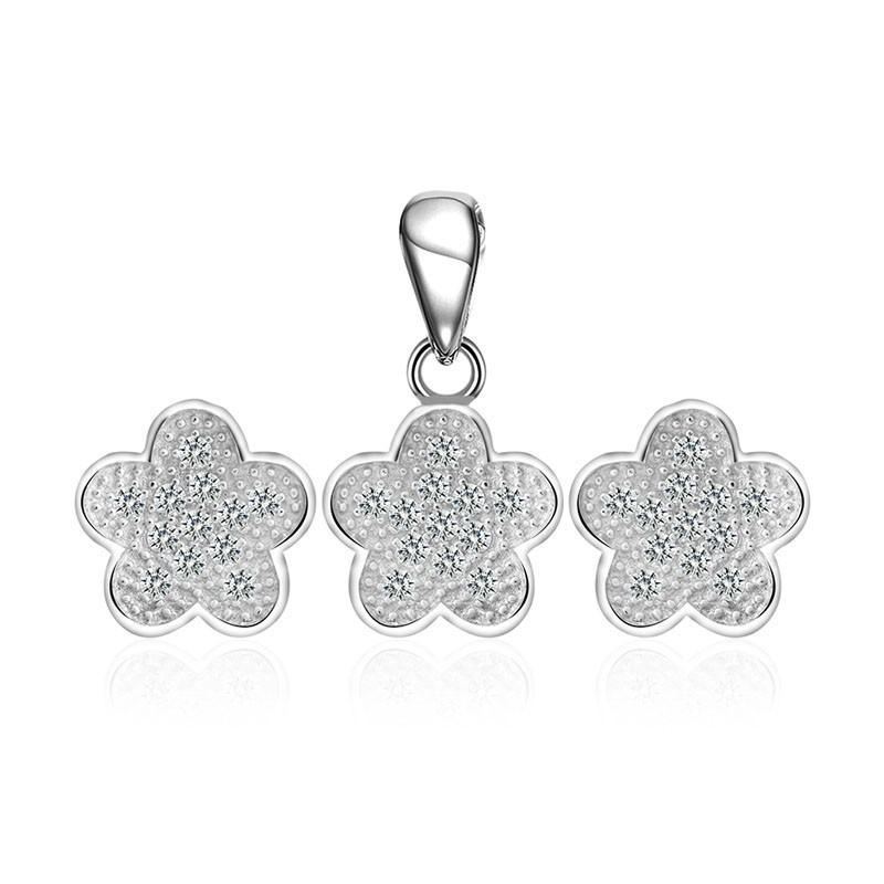Bộ trang sức bạc Flower 5 petals