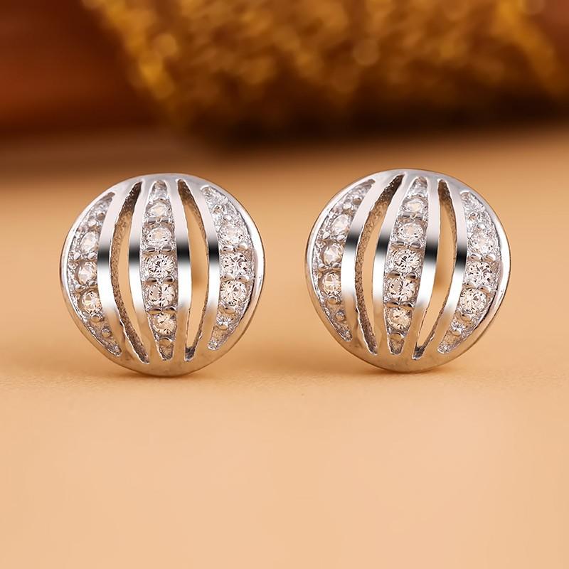 Bông tai bạc Hindu Circle