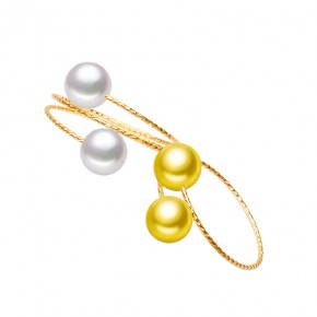 Nhẫn vàng 18k ngọc trai biển Akoya-6-6.5mm Delphis flower