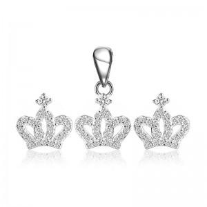 Bộ trang sức bạc Crown