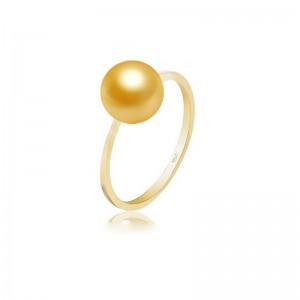 Nhẫn vàng 18k ngọc trai South Sea 9-11mm Marigold
