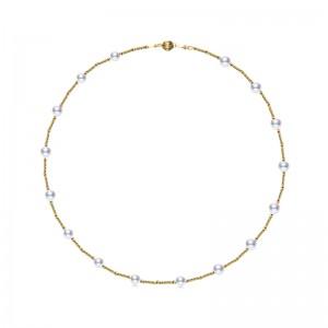 Dây chuyền vàng 18k ngọc trai biển Akoya 9-9.5mm Giu