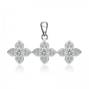 Bộ trang sức bạc Alaza Flower