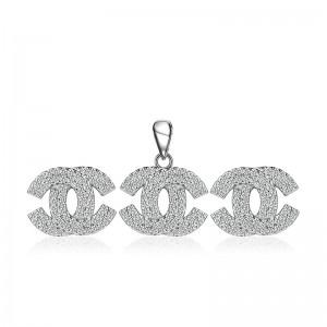 Bộ trang sức bạc Aly Chanel