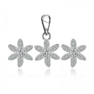 Bộ trang sức bạc Amada Flower