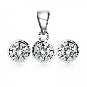 Bộ trang sức bạc Amini Circle