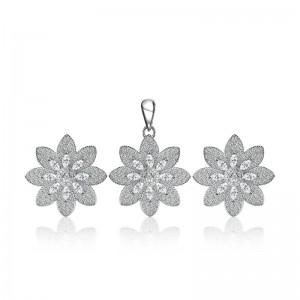 Bộ trang sức bạc Bobam Flower