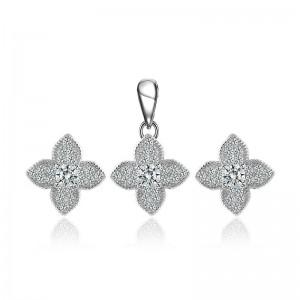 Bộ trang sức bạc Care Flower
