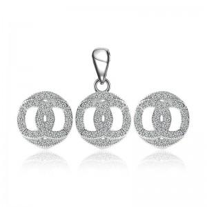 Bộ trang sức bạc Circle