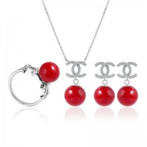 Bộ trang sức bạc  Pearl 01