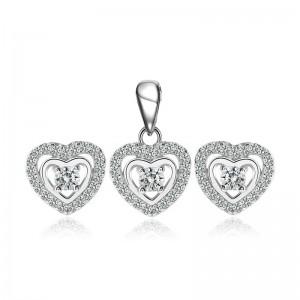 Bộ trang sức bạc Charm Love