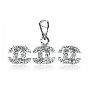 Bộ trang sức bạc Coco Chanel