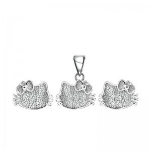 Bộ trang sức bạc Crystal Like