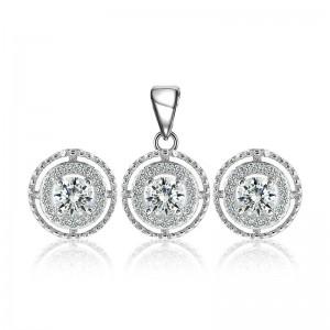 Bộ trang sức bạc Daria Circle