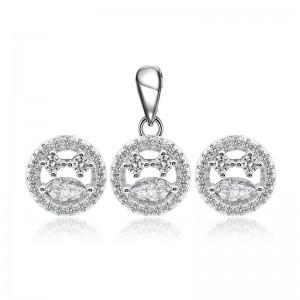 Bộ trang sức bạc Domino Circle