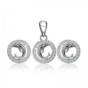Bộ trang sức bạc Dophin And Circle
