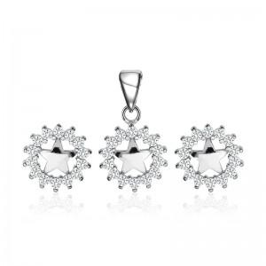 Bộ trang sức bạc Flower And Star