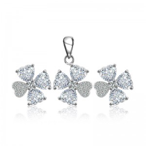 Bộ trang sức bạc Flowers Four Wings