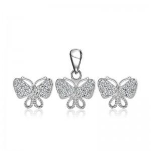 Bộ trang sức bạc Gem Butterfly