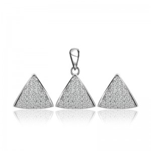 Bộ trang sức bạc Hani Triangle