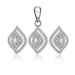 Bộ trang sức bạc Hanwa Love