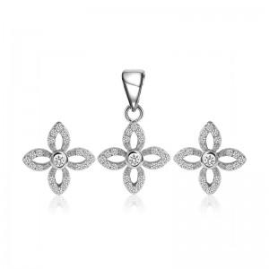 Bộ trang sức bạc Hatxa Flower