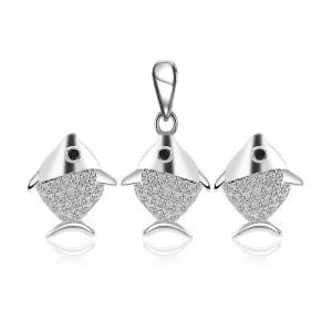 Bộ trang sức bạc Hemi Fish
