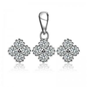 Bộ trang sức bạc Hilen Flower