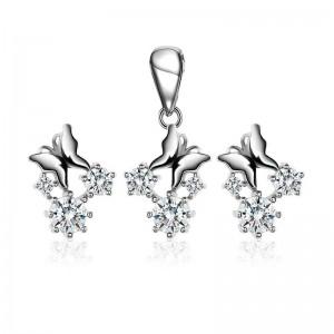 Bộ trang sức bạc Hinda Butterfly