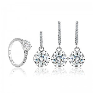 Bộ trang sức bạc Hiomin Flower