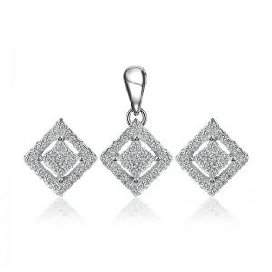 Bộ trang sức bạc Hovi Square